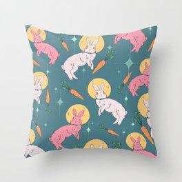 Bun Buns in Space Throw Pillow