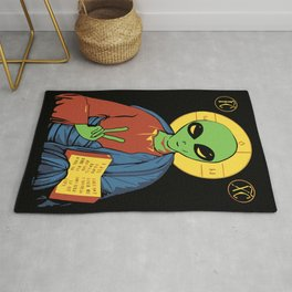 Alien Jesus - Funny Political Print Rug