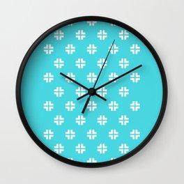 Scandinavian / Robin's Egg Blue + White Wall Clock