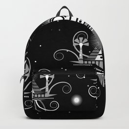 Black and white pattern Backpack