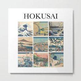 Hokusai - Collage Metal Print