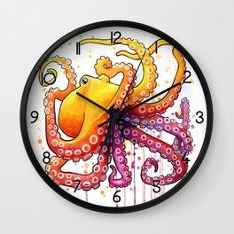 Octopus Sunrise Wall Clock