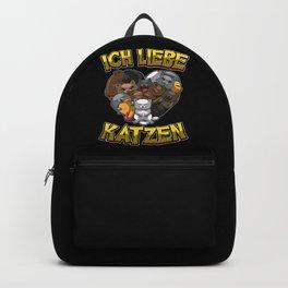 Ich Liebe Katzen - Herz mit Katzen Backpack