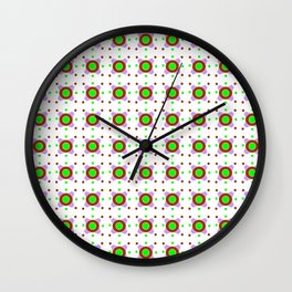 Symmetric patterns 143 Brown, green and purple Wall Clock