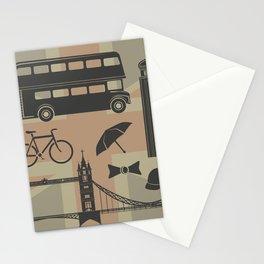 vector set of London landmarks Britain symbols isolated Stationery Cards