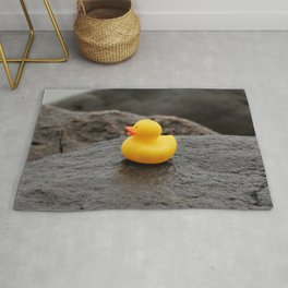 Deep Thoughts with Rubber Ducky Rug