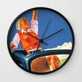 Bauhaus & Pop Art Retro Beetle Poster Wall Clock