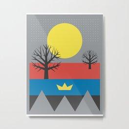 Illuminating Yellow: A Boat Of New Hope Metal Print