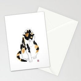 Grooming calico Stationery Cards