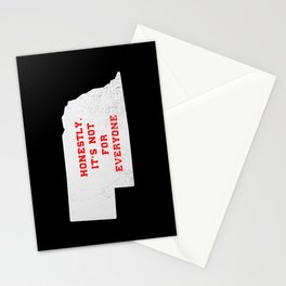 Nebraska - Honestly, its not for everyone - NE gift - Nebraska home decor Stationery Cards