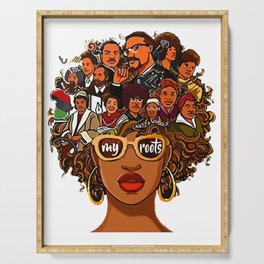 I Love My Roots Back Powerful History Month Pride DNA Serving Tray
