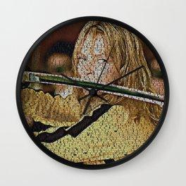 Text Portrait of Beatrix Kiddo with full script of Kill Bill Wall Clock