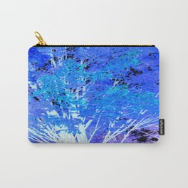 Blue Violet tree leaves Carry-All Pouch