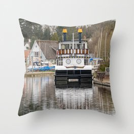 Southern Comfort Paddle Steamer Throw Pillow