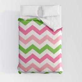 Sweet Summer Melon Chevron  Comforters