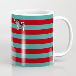 norwegian elkhound pixel striped Coffee Mug