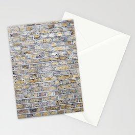Old brick british wall Stationery Cards