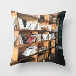 Albums On The Shelf Throw Pillow