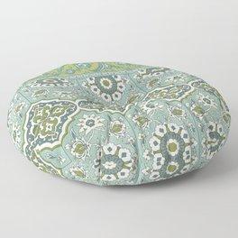 Antique Moorish Tile Pattern 5 Floor Pillow