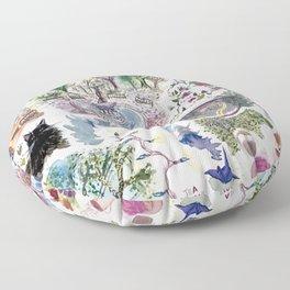 Random Access Paintings Floor Pillow