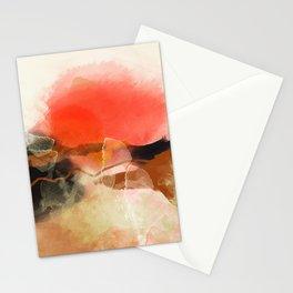 peachy sun Stationery Cards