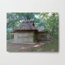 deserted teahouse in tatsuta park Metal Print