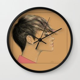 Left in Pink Wall Clock