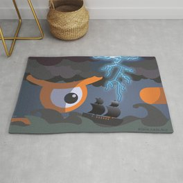 tempest at sight Rug