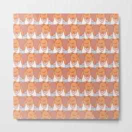 Vector Fox Terrier Pattern Metal Print