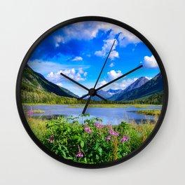 God's Country - IV, Alaska Wall Clock