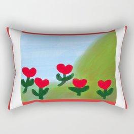 Hearts from a Rose Rectangular Pillow