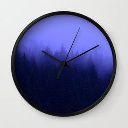 Periwinkle Fog 0367 - Seward, Alaska Wall Clock