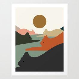 Cat Landscape 93 Art Print