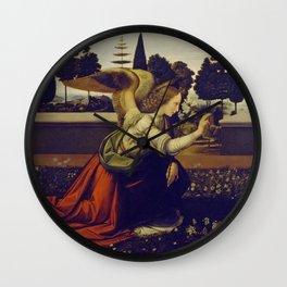 """Leonardo da Vinci """"Annunciation 1. (Archangel Gabriel)"""" Wall Clock"""