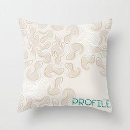 Moonmist Pattern Throw Pillow