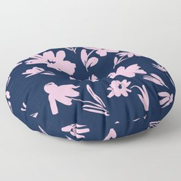 Blue and Pink Florals Floor Pillow