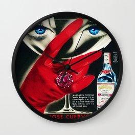 Rare 1962 Jose Cuervo Tequila Advertisement Poster Wall Clock