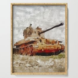 Challenger Tank, World War Two Serving Tray