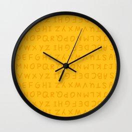 ABC in Yellow Wall Clock