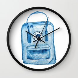 Blue Fjallraven Kanken Backpack Wall Clock