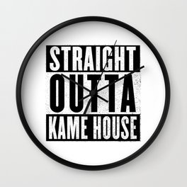 Straight Outta Kame House Wall Clock