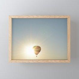 Hot Air Balloon Framed Mini Art Print