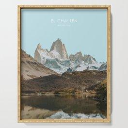 El Chalten, Argentina Travel Artwork Serving Tray