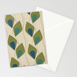 Climbing Vines Pearl Green Stationery Cards