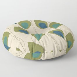 Climbing Vines Pearl Green Floor Pillow
