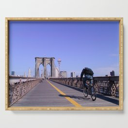 Brooklyn Bridge Bike Commuter Serving Tray