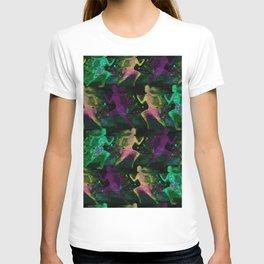 Watercolor women runner pattern on Dark Background T-shirt