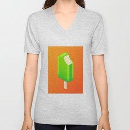 Ice Cream Stick Isometric - Lime Tang Unisex V-Neck