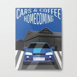 Cars & Coffee: Tuner Edition Metal Print