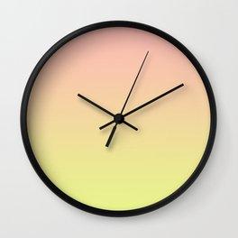 Melon Key Lime Ombre Wall Clock